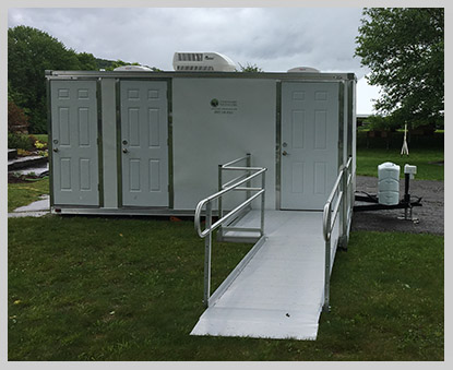 Our portable ADA Accessible restroom trailer