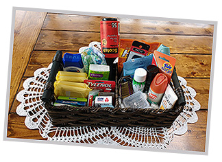 Ask us about baskets of toiletries for the comfort of your guests.