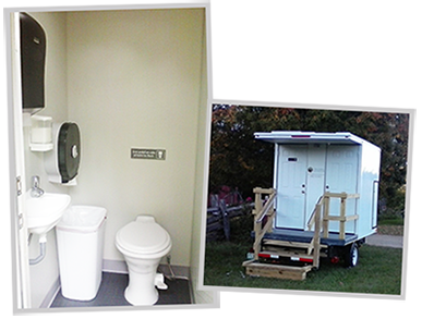 Essentials Trailer--comfortable restrooms at an affordable price