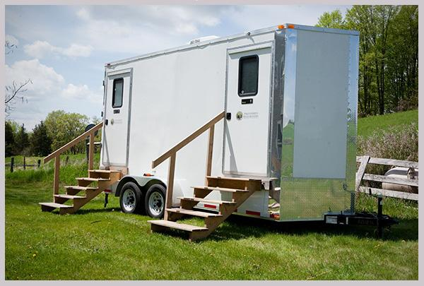 Luxury Portable Restrooms delivered right to your event.