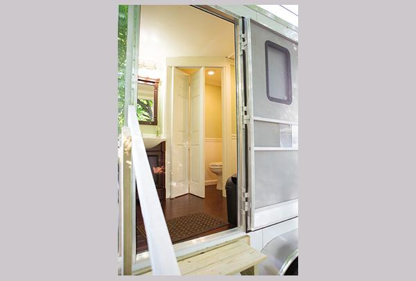 Get all the comforts of home in our Luxury Portable Restroom rentals.